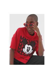 Camiseta Colcci Disney Mickey Vermelha