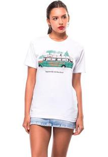 Camiseta Into The Wild Useliverpool Feminina - Feminino-Branco