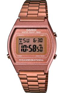 Relógio Digital Casio Vintage Feminino - B640Wc-5Adf Rosê