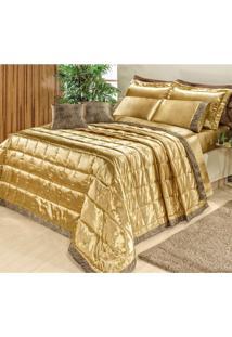 Kit Colcha King Safari 9 Peças Bia Enxovais Dourado