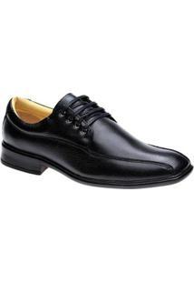Sapato Social 486603 Extra Comfort Superleve Design Italiano Doctor Shoes - Masculino-Preto