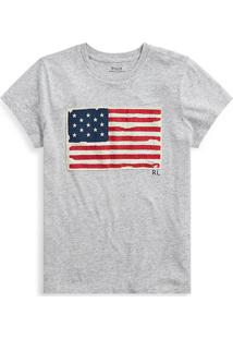 Camiseta Polo Ralph Lauren Estampada Cinza