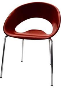 Cadeira One Base Fixa Cromada Cor Chocolate - 22666 - Sun House