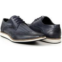 876c90a81d Sapato Casual Bigioni Estonado Couro Masculino - Masculino-Marinho