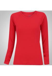 Camiseta Manga Longa Com Proteção Solar Uv50+ Oxer Custom - Feminina -  Vermelho 5c6e5db2c8c2c