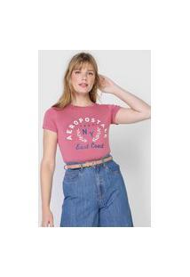 Camiseta Aeropostale East Coast Rosa