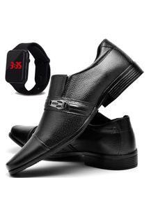 Sapato Social Masculino Db Now Com Relógio Led Dubuy 710Od Preto