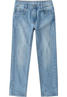 Calça Jeans Skinny Estonada Menino Malwee Teen Azul Claro - 3