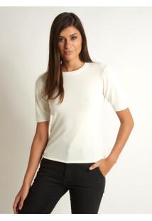 Camiseta Le Lis Blanc Bianca Tricot Off White Feminina (Off White, Gg)