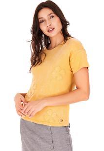 Camisetas Side Walk Camiseta Trevos Amarelo