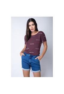 T-Shirt Amarração Costas Lança Perfume T-Shirt Roxo