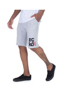 Bermuda De Moletom Ecko E646A - Masculina - Cinza Claro