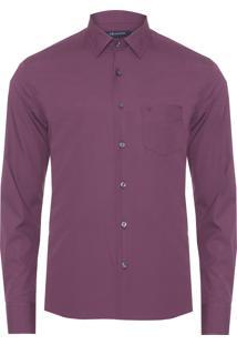 Camisa Masculina Lisa Tinturada - Roxo