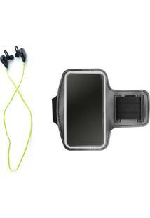 Kit Braçadeira Armband E Fone De Ouvido Xtrad Bluetooth Sem Fio - Unissex