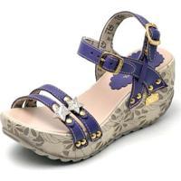1760a9fde Sandalia Top Franca Shoes Betina Beker Plataforma Anabela Feminina -  Feminino-Marinho