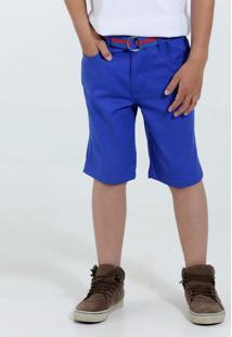 Bermuda Infantil Sarja Cinto Marisa