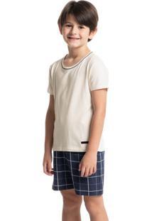 Pijama Infantil Masculino Curto Estampado Olavo