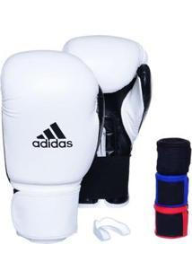 Kit Luva Adidas Power 100 Colors + 3 Bandagens + Bucal Simples - Unissex