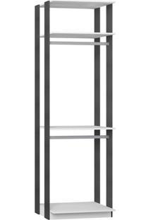 Guarda-Roupa Modulado Clothes Branco E Expresso