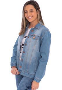 Jaqueta Jeans Aee Surf Reta Delave Azul