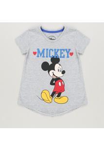 f584bf27c CEA. Blusa Infantil Mickey Com Glitter Manga Curta Decote Redondo ...
