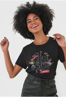 Camiseta Coca-Cola Jeans Real Thing Preta - Preto - Feminino - Algodã£O - Dafiti