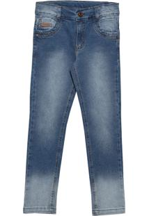 Calça Look Jeans Super Skinny Jeans Azul Marinho