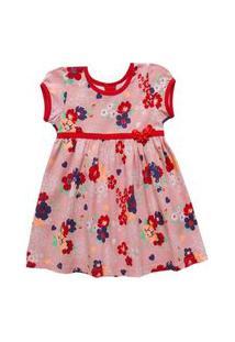 Vestido Infantil Menina Com Estampa Floral-1