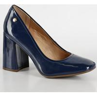 a3aac25568 Scarpin Azul Marinho Decorativo feminino