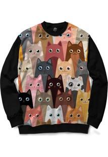 Blusa Bsc Cat Love Full Print - Masculino