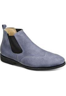 Bota Masculina Sandro Moscoloni Classic Chelsea Jeans Jeans