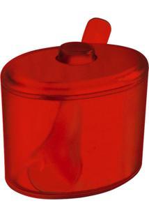 Açucareiro Cozy 320 Ml Vermelho Transparente Coza