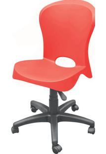 Cadeira Jolie Sem Braco Com Rodizios Vermelho - 20049 - Sun House