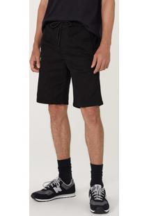 Bermuda Masculina Slim Em Sarja Com Elastano
