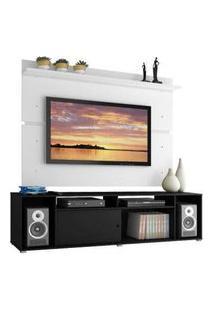 Rack Madesa Cancun E Painel Para Tv Até 65 Polegadas Preto/Branco
