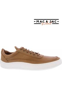 Sneaker Mac & Jac By Coloral Couro Caramelo