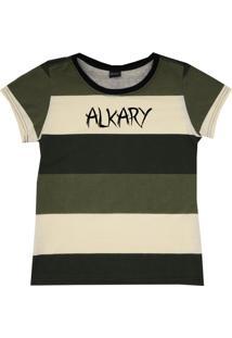 Camiseta Baby Look Degrade Verde