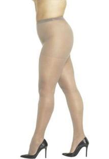 Meia Calça Fio Desfia Loba Lupo Clássica Fina Fio 20 Plus Size - Feminino-Bege