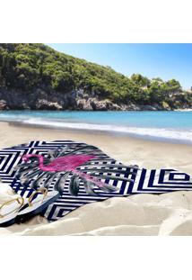 Toalha De Praia / Banho Flamingo Geométrico