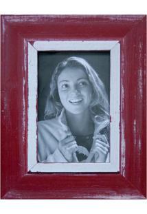 Porta Retratos De Mesa Para Foto 10X15 Cm Vermelho