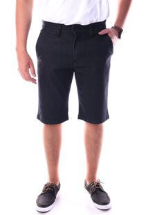 Bermuda Jeans Chino Regular Com Elastano Preto Traymon 627