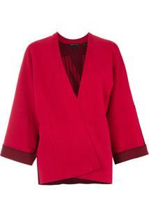 Armani Exchange Kimono De Tricô - Vermelho