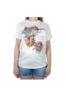 Camiseta Colcci Estampado Off White