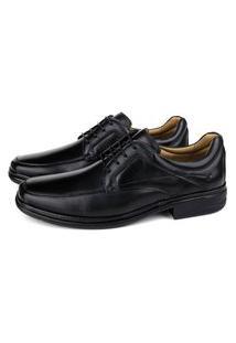 Sapato Conforto Light Em Couro Preto Savelli