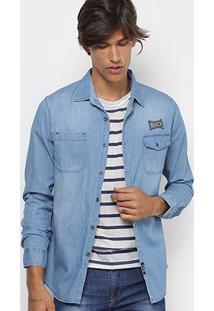 Camisa Jeans Broken Rules Clássica Stone Masculina - Masculino 0b4543a248464