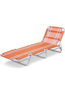 Cadeira Espreguiçadeira Textilene Aluminio Listrada Br/Az Listrado Belfix - Tricae
