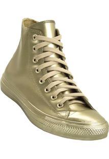 Tênis Converse All Star Ct As Metallic Rubber Hi - Feminino-Dourado
