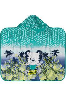 Toalha De Praia Tigor T. Tigre® - Verde Água & Branca