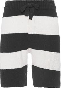 Bermuda Masculina Tricot Bold E-Fabrics - Preto
