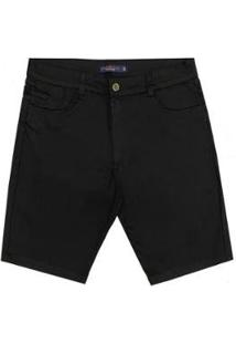 Bermuda Sarja Plus Size Prs Masculina - Masculino-Preto